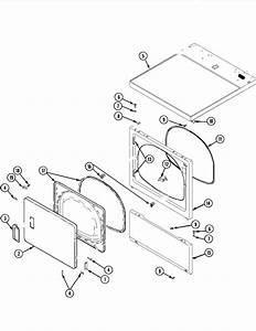 Door  Front  Access  U0026 Top Panels Diagram  U0026 Parts List For