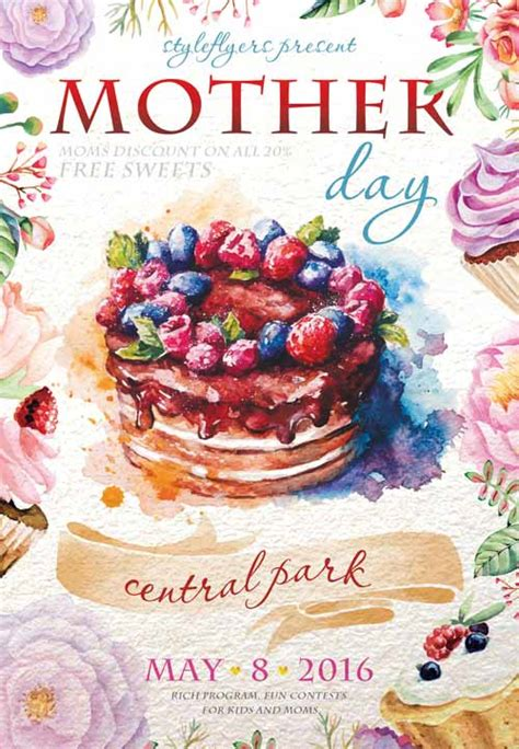 mother day  flyer template
