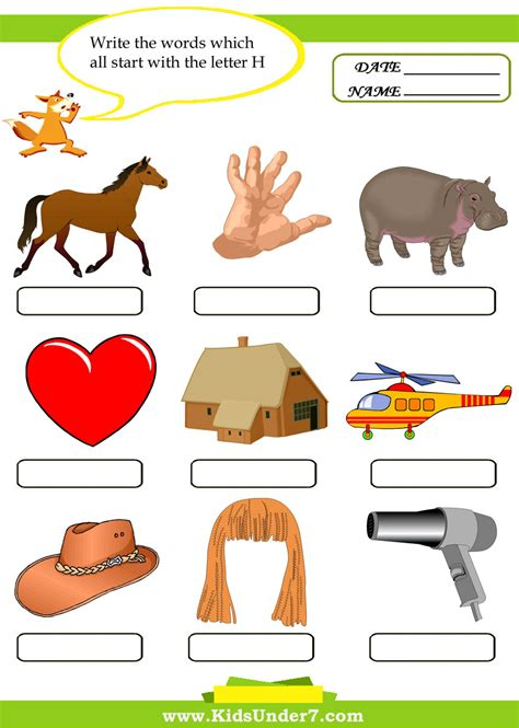 preschool words that start with d things that start with the letter h levelings 460