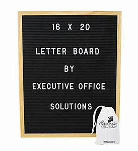16 x 20 changeable letter board black felt with solid With vintage inspired changeable letter board