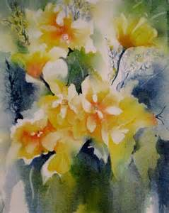 Colorful Flower Paintings Watercolor