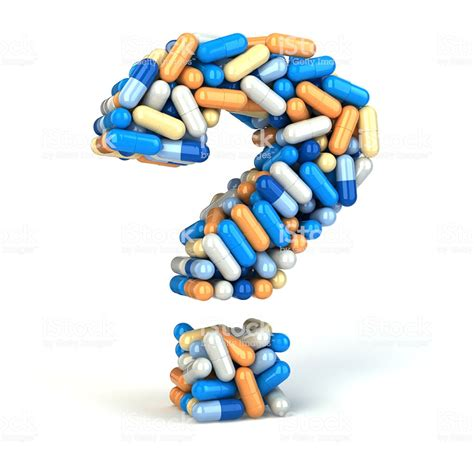 Pharmacy Questions by Pills Or Capsules As A Question Stock Photo More