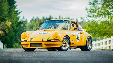 porsche  coupe race car yellow obo  sale