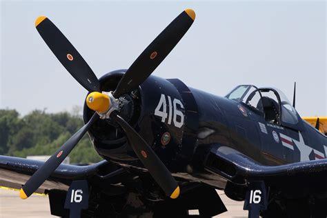 Airplane Aircraft Vought F4u Corsair Black Numbers