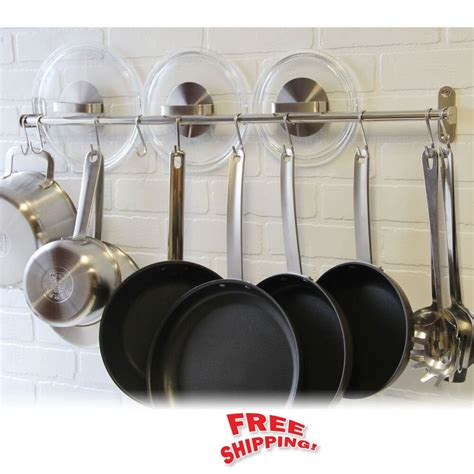 hanging pot rack hooks wall mount pot rack hook stainless steel kitchen hang