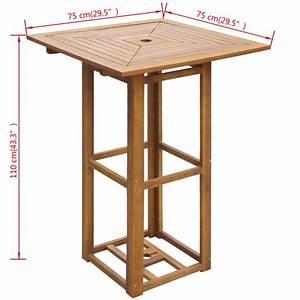 Bar Exterieur Bois : acheter vidaxl table de bar d 39 ext rieur bois d 39 acacia pas cher ~ Teatrodelosmanantiales.com Idées de Décoration