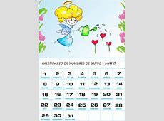 Calendario de los nombres de santos de Mayo