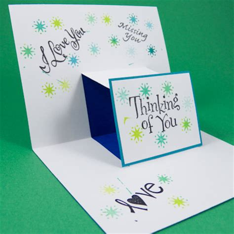 card making idea step pop  card tutorial greeting