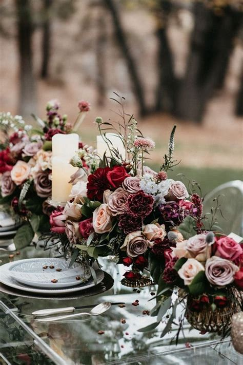 gorgeous fall wedding centerpieces   trends