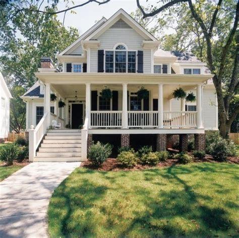 white home dream home house steps suburbs shutters front porch wrap  porch lisforloren