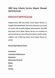 2005 Jeep Liberty Service Repair Manual Download