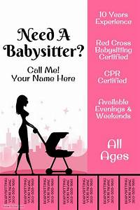 best 20 babysitting flyers ideas on pinterest With babysitting poster template