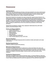 Sample Phlebotomist Resume Free Resume Templates