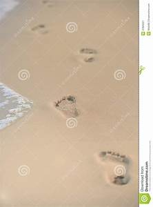 Footprints In The Sand Royalty Free Stock Photography ...