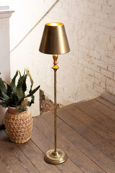 antique gold table lamp  metal shade