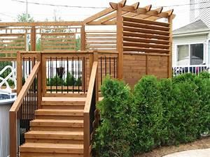 patio piscine moderne pergola et paravent en cedre patio With escalier de maison exterieur 1 escalier maison bois moderne deco maison moderne