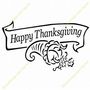 Happy Thanksgiving Clip Art Black And White Pictures to ...