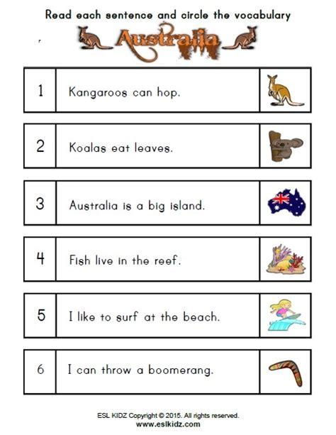 australia worksheets activities games  worksheets