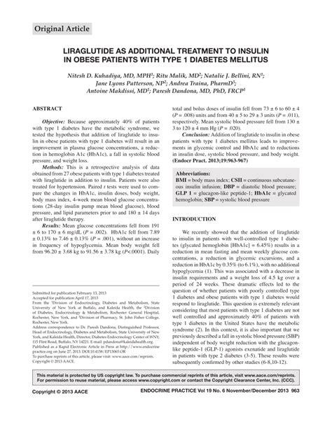 liraglutide  additional treatment  insulin