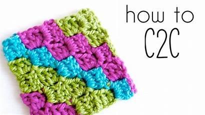 Crochet Corner C2c Tutorial Blanket Pattern Stitch