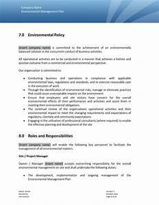 environmental plan With construction environmental management plan template