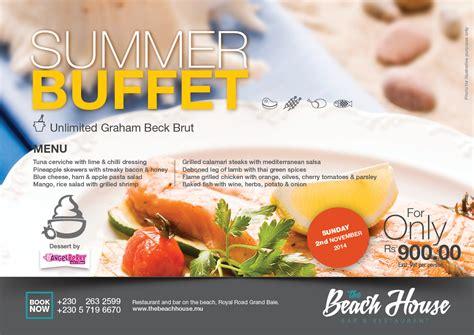 New Summer Buffet The Beach House Restaurant Bar