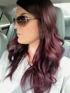 Dark red/violet hair | Brown hair Level 5,6 | Pinterest