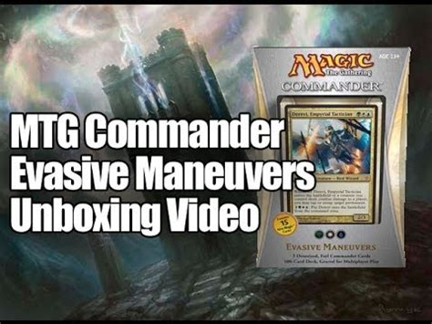 mtg commander deck 2013 evasive maneuvers opening