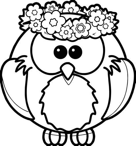 Owl Spring Coloring Page Wecoloringpagecom
