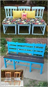 Upcycling Mbel DIY Gartenbank Ideen Alte Sthle