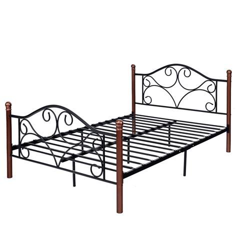 Steel Bed Frame by Costway Size Steel Bed Frame Platform Stable Metal