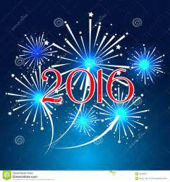 happy new year 2016 with fireworks background stock vector image 52729317