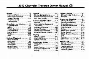2010 Chevrolet Traverse Owners Manual