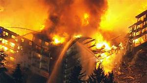 2 firefighters injured as crews battle massive fire in ...