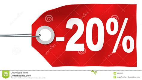20% Off Tag Royalty Free Stock Photography