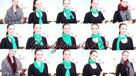 schal richtig binden 15 arten schal und schal how to wear a scarf
