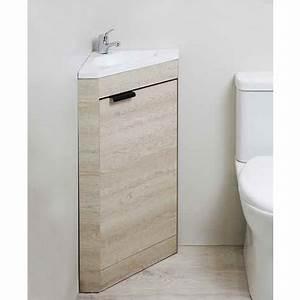 Petit Lave Main D Angle Wc : meuble lave mains d 39 angle poser alma bois clair ~ Premium-room.com Idées de Décoration