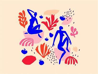 Matisse Inspiration Collage Inspired Henri Dribbble Artwork