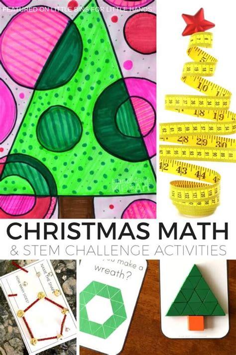 christmas math activities  math stem challenges  kids