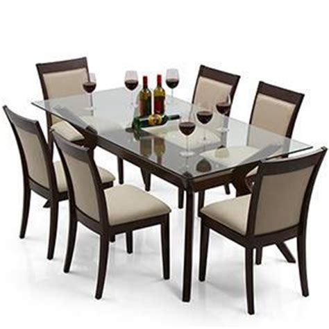 dining table set 6 seater wesley dalla 6 seater dining table set urban ladder