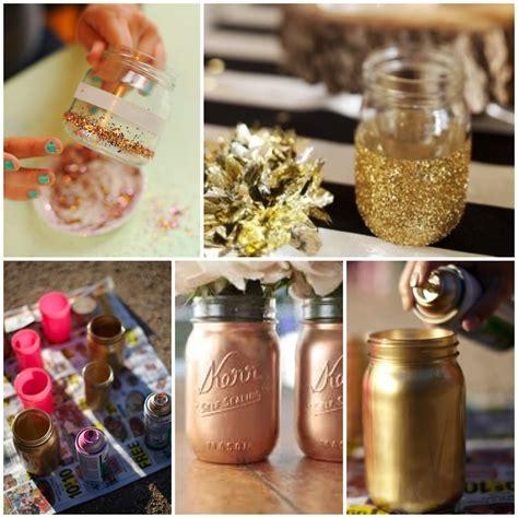 diy with jars diy gold mason jars glitter inc glitter inc