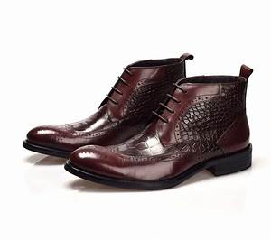 Men Dress Boots Leather - Yu Boots