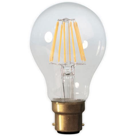 calex led filament gls 4w 240v b22d clear dimmable