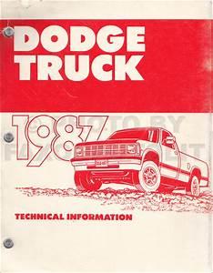 1987 Dodge Ram Van And Wagon Repair Shop Manual Original