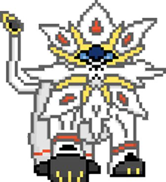 Pixel Art Pokemon Solgaleo Et Lunala