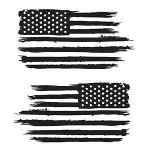 set of 2 distressed american flag decals car window stickers veteran usa 1 ebay