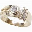 Vintage 9k Gold .25 ctw Diamond Ring from arnoldjewelers on Ruby Lane