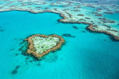 heart reef great barrier reef queensland australia