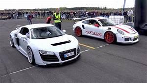 Color For 999999   Porsche 991 Gt3 Rs Vs Audi R8 Sl63 Amg V10 Spyder Youtube  1984 Sport Quattro