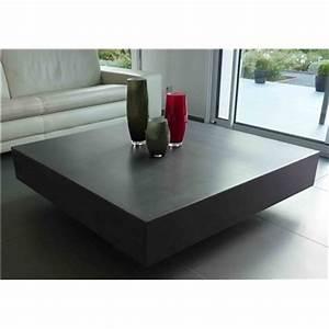 Table En Béton Ciré : table basse design en b ton cir ~ Premium-room.com Idées de Décoration
